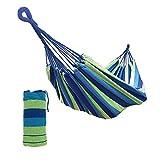 XONE Amaca in Cotone Portatile e richiudibile in Un Sacchetto, Colore Blu, Dimensioni: 2x1mt