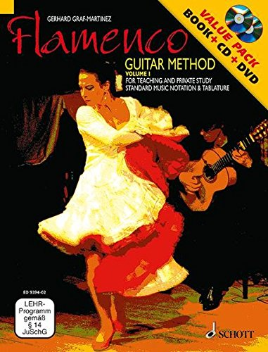 Flamenco Guitar Method: for Teaching and Private Study. Vol. 1. Gitarre. Ausgabe mit CD + DVD.