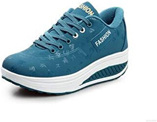 Unparalleled beauty Women's Wedge Tennis Athletic Lace up Fashion Walking Comfort Lightweight Driving Shoes