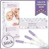 MediVinius 3, 5 oder 10 Schwangerschaftstest mit schnellem Ergebnis in unter 5 Minuten I Zuverlässige Pregnancy Test Strips I Frühtest, Hcg Test - 3 Stück