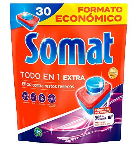 Somat Todo en 1 Extra Pastillas para Lavavajillas a Máquina Formato Económico - 30 Lavados