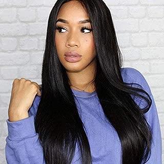 Klaiyi Hair 10A Brazilian Virgin Straight Hair 3 Bundles 100% Unprocessed Human Hair Weave Extensions Natural Black Color (12 14 16