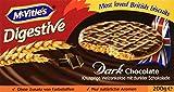 McVitie's Digestive Original Dark Chocolate 5 x 200 g – knusprige Kekse mit Schokoladenüberzug – Bisquits nach traditioneller Rezeptur – dunkle Schokolade