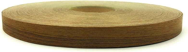 "Edge Supply Teak 7/8"" X 250' Roll of Plywood Edge Banding – Pre-glued Real Wood Veneer Edging – Flexible Veneer Edging – Easy Application Iron-on Edge Banding for Furniture Restoration – Made in USA"