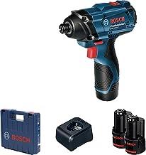 """Chave de Impacto a Bateria de ¼"""" Bosch GDR 120-LI, 100Nm, 12V, com 2 Baterias 2,0Ah, 1 Carregador BIVOLT em Maleta"""