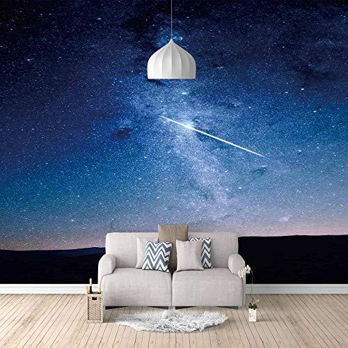 Fotomural Vinilo Pared Estrellas Azules Del Cielo Estrellado 300cmx210cm Papel Pintado Pared Fotomural Fotografico Sala De Estar Dormitorio Decoración Fondo De Pantalla Lienzo Hd