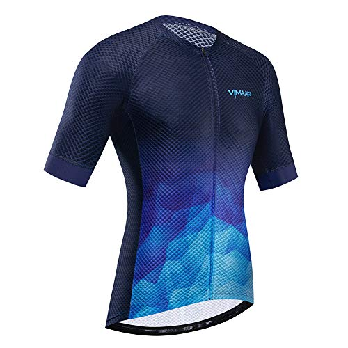 Camisetas Ciclismo para Hombre Camiseta Corta Manga Tops Ropa Ciclismo Mountain Bike/MTB Shirt Transpirable y Que Absorbe Sudor Secado Rápido