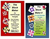 Bloc Loc The Block Maker 1 and 2 Set, for Half Rectangle Triangle Rulers | with Simple Piecing Instructions | Guides Contain Over 100 Quilting Designs