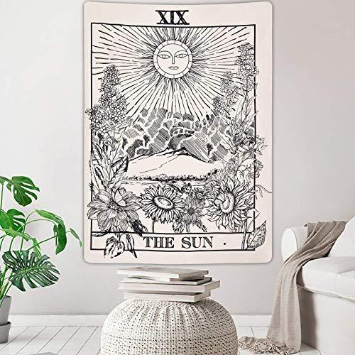 Tapiz de Tarot Tapetsry The Sun Tapestries - Tapiz para colgar en la pared de la habitación