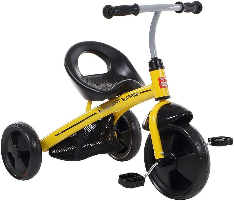 Tricicli Passeggino for Bambini Bicicletta Shock 2 in 1 Adatto A Bambini di 2-3-5 Anni Che Guidano Giocattoli Ruota Gonfiabile Gratuita Ragazzo Ragazza Passeggino Gituttio può Essere Usato Come