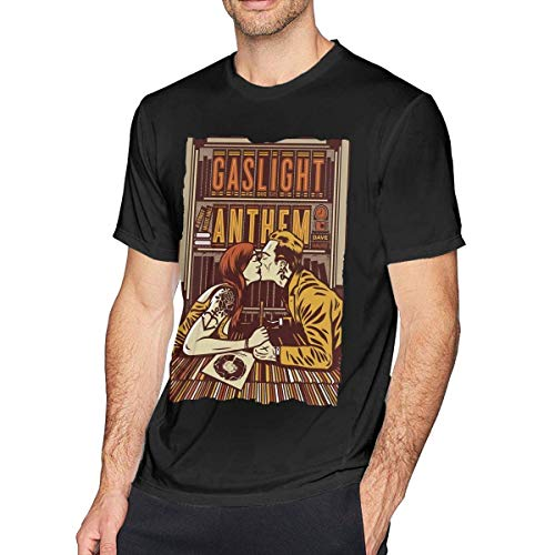AOCCK Sportbekleidung Herren Kurzarmshirt, Mens Funny The Gaslight Anthem Tshirt Black