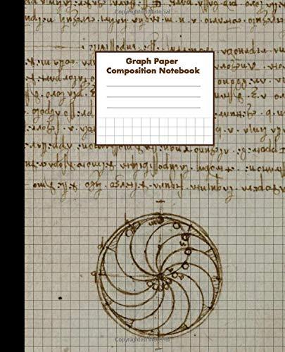 Graph Paper Composition Notebook: Grid Paper, 4 squares per inch, 4x4 Quad Ruled, Leonardo Da Vinci | Codex Forster II, 100 pgs (7.5 x 9.25 in)