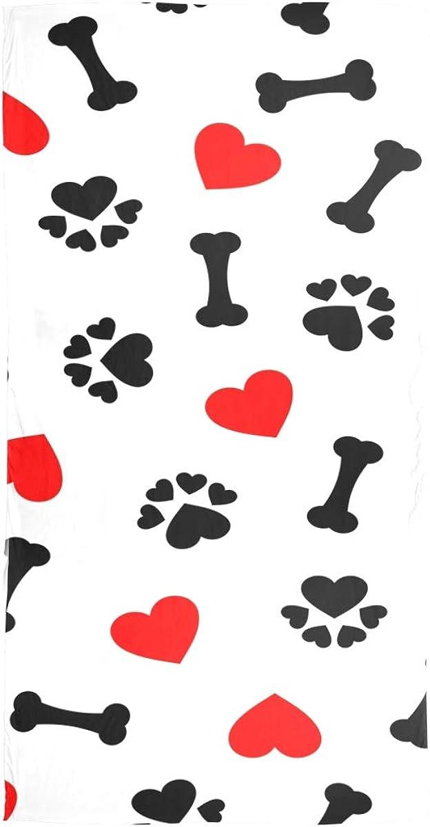 AUUXVA Fashion Scarf Valentine Animal Dog Paw Pattern Long Lightweight Sunscreen Scarf Shawl Wrap Muffler Neckerchief for Women Men