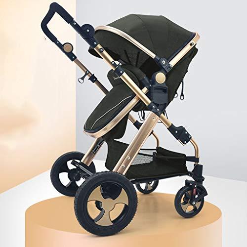 KHUY Cochecito de bebé, 3 en 1 Plegable Carro de bebé del...
