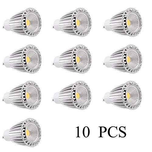Bubbry Lampen-10 stuks vervangingslicht dimbare punt-lamp 9W GU10 LED-koplamp