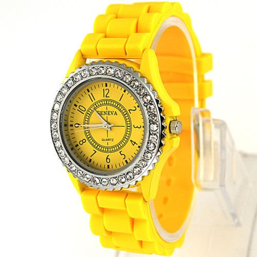 Menu Life Geneva - Reloj de pulsera con pulsera suave y esfera de cuarzo
