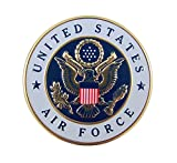 United States Air Force Military Metal Auto Decal Emblem, 2 Inch