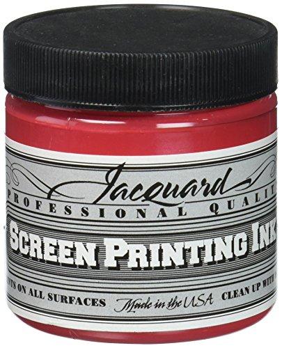 Jacquard JAC-JSI1126 Screen Printing Ink, 4 oz, Opaque Red