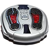 WLKQ EMS Foot Machine, Electronic Plus Massager for Feet Legs and Back, Foot Circulation Stimulator, Foot Therapy Machine to Relieve Foot Pain and Tired, 99 Intensities (Foot Massage Machine)