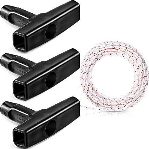 Recoil Starter Seil 10-Meter 3,0 mm Ziehen Schnur mit 3 Stücke Starter Griff für Rasenmäher Kettensäge Trimmer Edger Bürste Schneider Motorteile