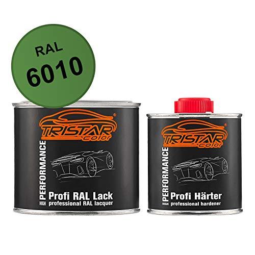 TRISTARcolor RAL 6010 Grasgrün matt 2K Autolack 0,75 Liter / 750 ml Dose inkl. Härter