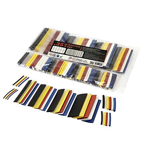 ISO-PROFI® 357-tlg Magnum Schrumpfschlauch Sortiment Set Beutel Farben Mix 2:1