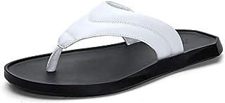 Men Sandals Mens Slipper Flip Flops Thong Flat Beach Sandals Microfiber Leather Straps Comfortable Outdoor Shoes Comfortable