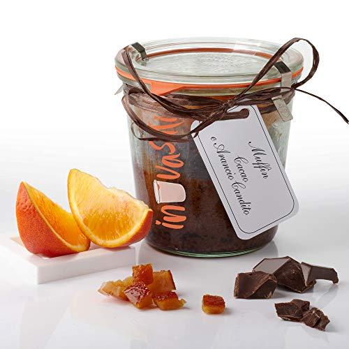 Muffin Artigianale Cioccolato e Arancia in Vasocottura   350gr - 6 Porzioni   IN-VASATI   Ideale per Colazione   Vaso di vetro WECK riutilizzabile   Dolci artigianali   Giovetti Alta Pasticceria