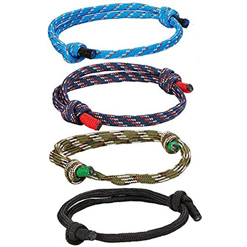 FIBO STEEL 4 Pcs Braided Nautical Bracelets for Men Handmade Navy Rope String Cool Bracelet Adjustable (B:4 Pcs a Set)