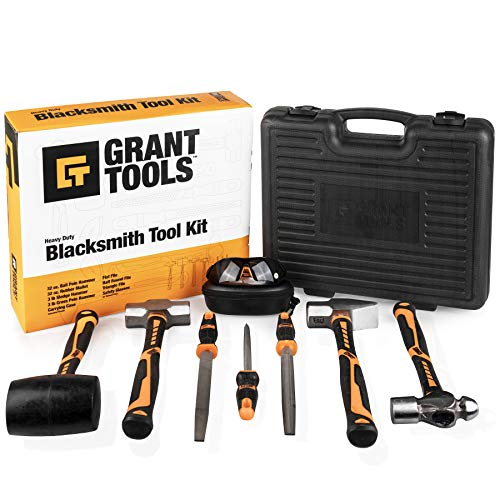 Grant Tools 8-Piece Blacksmith Tool Kit | Startup Set/Light Duty | With Each Kit Sold 1 Solar Light is Donated to a Child Abroad in Need via Extend The Day