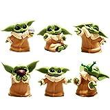 BESTZY Baby Yoda Toy 6 Figuras de Peluche para Bebé Baby Yoda Doll Figure Modelo de Acción para la Oficina o Los Niños