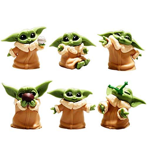 BESTZY Baby Yoda Spielzeug 6 Stück/Set Baby Yoda Serie Actionfigur Spielzeug Stars Wars Das mandalorianische Doll Das Kind Sammlerpuppe Yoda Action Model Büro Ornament Kinder