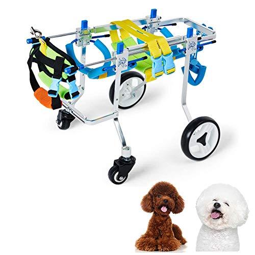 Knoijijuo Rollstuhl für Wirbelsäule/Vorderbein/Hinterbeine/Füße des Hundes, Der Hund Kann Wieder Laufen, Gehhilfe für Hunde/Katzen/Kaninchen,Medium
