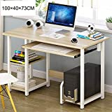 WYQAU Home Office Computer Desk, PC Laptop Study Gaming Table Computer Workstation