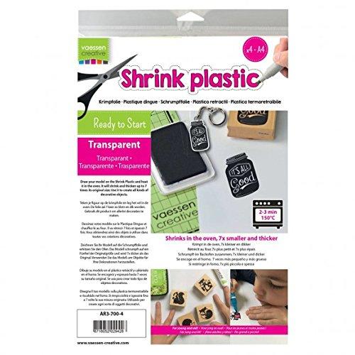 Vaessen Creative Plástico Mágico, Transparente, 25 Hojas, Tamaño 21 x 30 cm,...