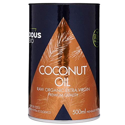 Huile de noix de coco extra vierge BIO pressée à froid (500 ml) | Sans arômes chimiques - Sans blanchiment artificiel - Non raffiné | Utilisation esthétique, cuisson et massage | Certification BIO