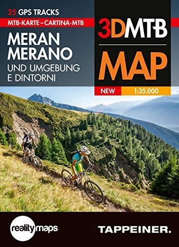 Moutainbike-Karte Meran und Umgebung: Cartina Mountainbike Merano e Dintorni (Mountainbike-Karten) (Mountainbike-Karten / Cartine Mountainbike)