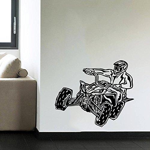 Stickers muraux Quad ATV Quad Racing Rider Extreme vitesse Saut Moto pour chambre d'enfant garçons chambre Sticker Mural en vinyle de Salle de Bain Decor murales Sticker mural