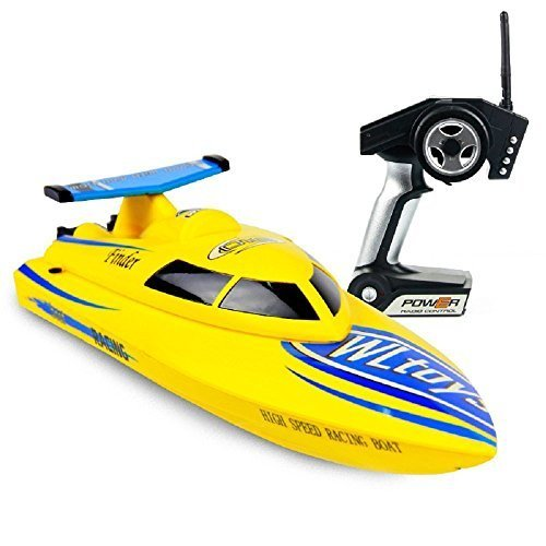 DeXop RC Boat 4CH 2.4G High Speed RC Boat RTF Charging Remote Control Boat