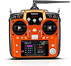 Radiolink AT10II 12CH RC Transmitter and Receiver R12DS 2.4g DSSS&FHSS Radio Remote Controller for RC Drone Fixed Wing Airplane Helicopter (Mode 2)