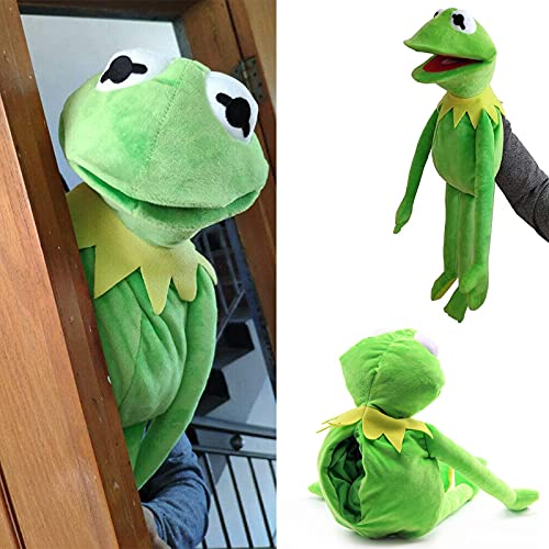 Kermit The Frog Puppet Plush—23.6 inch The Muppet Show Large Kermit Frog Puppets Plush Toy Doll Stuffed,Soft Frog Puppets with Movable Mouth