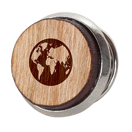 Earth Stylish Cherry Wood Tie Tack 12Mm Simple Tie Clip with Laser Engraved Design Engraved Tie Tack Gift