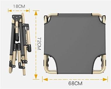 Lit Pliant de Bureau réglable à 4 Niveaux, lit Pliant Simple, canapé-lit Ultra-Large et Durable, Coussin inclinable Ordinaire