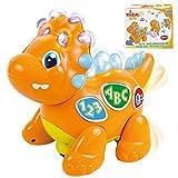 Izzy The Dinosaur: Dancing Interactive Extra Cute Music Toy. Light-Up Walking Robot Dinosaur /...