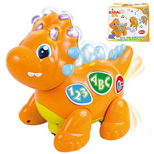 Izzy The Dinosaur: Dancing Interactive Extra Cute Music Toy. Light-Up Walking Robot Dinosaur / Animal Learning Dino Toy for Babies &Toddlers. Development Toys for Playtime Fun Series. 18 Months and Up