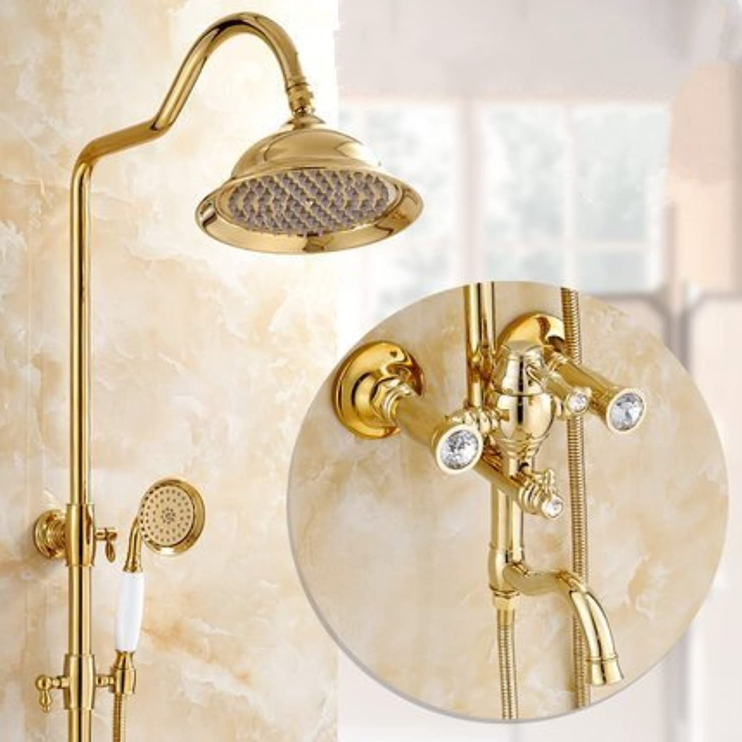 Zxy-Shower of European gold All Nozzles at A Constant Temperature of Copper Heat Cold Shower Shower Shower