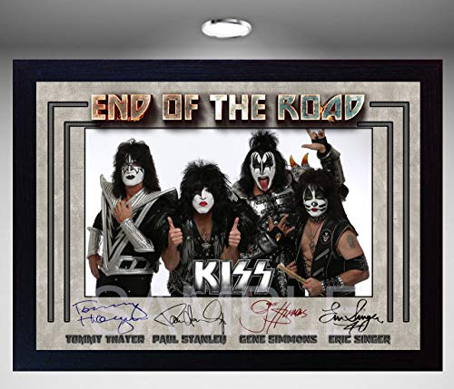 SGH SERVICES NEU! Gerahmtes Poster Kiss End of The Road, amerikanische Rockband-Musik, gerahmt, vorgedruckt, gerahmt