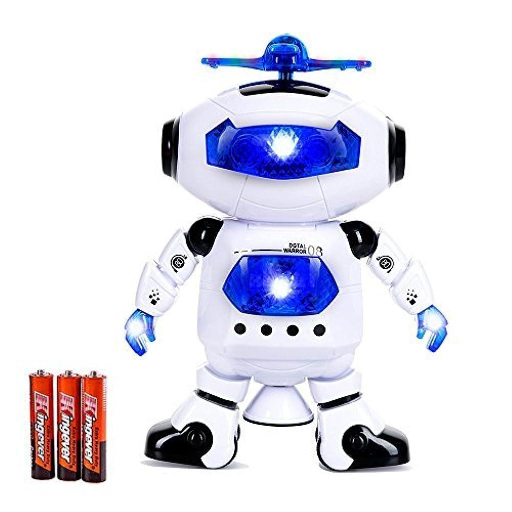 自動車東ティモール重荷Toysery Electronic Walking Dancing Robot Toys With Music Lightening For Kids Boys Girls Toddlers, Battery Operated Included [並行輸入品]