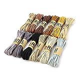 RUBY - 12 Rollos Cordón Antelina Multicolor Grosor 3mm x 5metros cada Rollo Cuerda para Pulseras Llavero y Fabricación de Bisuterías y Manualidades Artesanía (NATURAL)