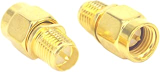 YOTENKO SMA Adapter SMA Male to RP SMA Female Jack Connector RF Coax Cable Couple Converter Pack of 2